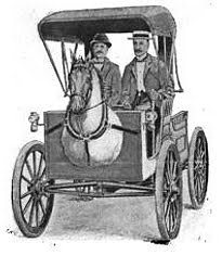 "The Horsey Horseless The advent of motorised vehicles in the late 19th century had the unfortunate side-effect of terrifying their predecessors - horses. As horse drawn carriages and these new-fangled automobiles whizzed past one another on busy streets, the horses would be so startled by the speed and noise of the machines that their owners would threaten to shoot the drivers there and then! Enter Uriah Smith. An inventor from Michigan, in 1899 Smith proposed a solution in the form of the Horsey Horseless carriage; a motorised vehicle with a wooden horses head attached to the front, so it somewhat resembled a typical horse and carriage. He reasoned that, upon witnessing this monstrosity, ""The live horse would be thinking of another horse and before he could discover his error and see that he had been fooled, the strange carriage would be passed."" It is not know whether any Horsey Horseless carriages were ever actually made. [Sources: A Touch of Knowledge 