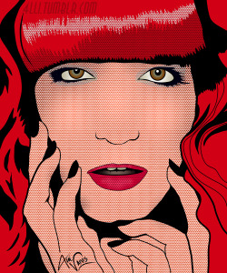 Florence Welch inspired by Roy Lichtenstein by Alli Vanes