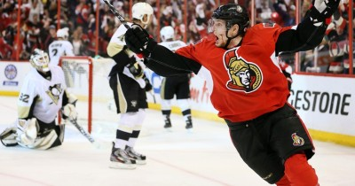 Greening's goal celebration, via the Ottawa Citizen. Epic of epicness.