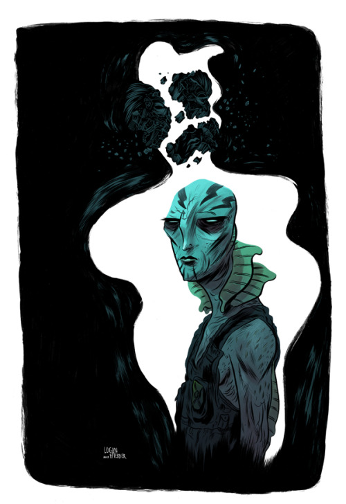 "brandnewnostalgia:  ""The Evolution of Abe Sapien"" by Logan Faerber Enter the Multiversity Comics  ""The Evolution of Abe Sapien Art Contest"" and you could win: - All six of the Hellboy Library Editions for yourself and for your comic retailer of choice (1 set each)- Your piece will be featured in an upcoming issue of ""Abe Sapien"" Stay informed: Facebook 