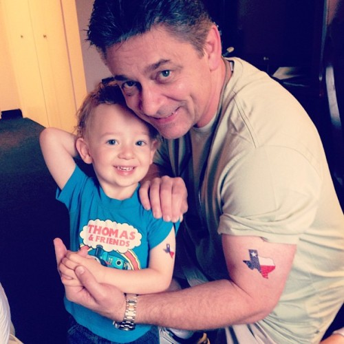 The boys with their temp #texas tattoos. What cutie pies ❤