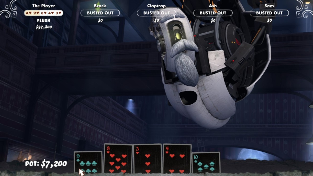 That time that GLaDOS has a moustache, beard….and decidedly scarier, pair of bushy eyebrows.