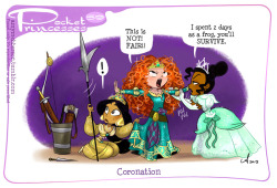 Pocket Princesses 59: Coronation Please reblog, don't repost. In related news, my official Acme Star Wars print 'Leia's Story' is available from Super 7 here