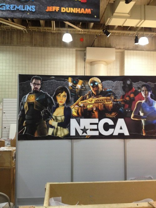 NECA getting set up for Toy Fair 2013!