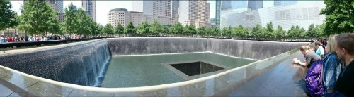 9/11 memorial pool, what a powerful site and area.