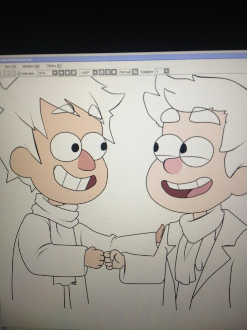 homogoggles:  WIP Gravity Falls with Gavin and Dan