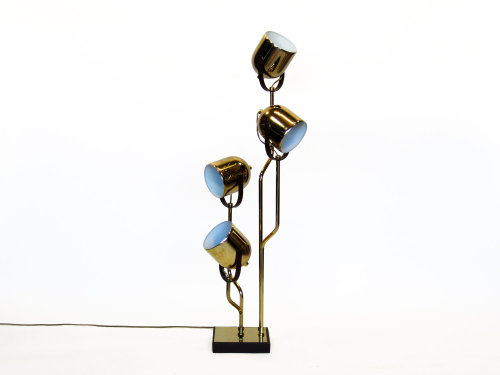 Large Brass Table Lamp in the Style of Reggiani
