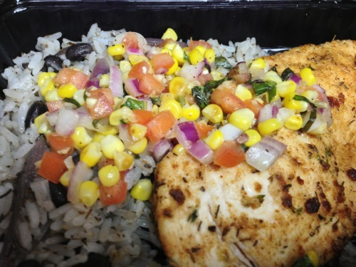 Today's nom-nom is Rice & Beans w/ Chicken & Corn Salsa @ $5.99 = stupid tasty & stupid cheap! PS if you haven't tried Chef Danny's food yet you are seriously missing out