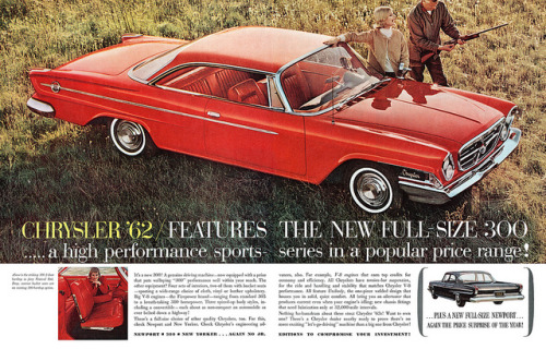 Chrysler advertisement. by totallymystified on Flickr.Chrysler '62