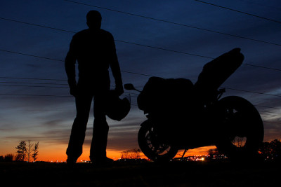 sportbike:  The silhouette. Doesn't matter what brand the motorcycle is apart of nor does it matter if the rider is a fan of stunting or getting your knee down, he rides — thats all that matters. Today we put too much emphasize on one over the other that we often forget that everyone rides at the end of the day. By jstancel on Flickr.