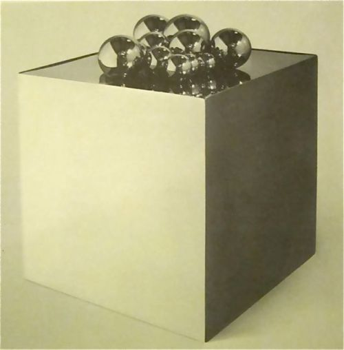 "vuls:  Pol Bury, ""15 Balls on a Cube"", 1968"
