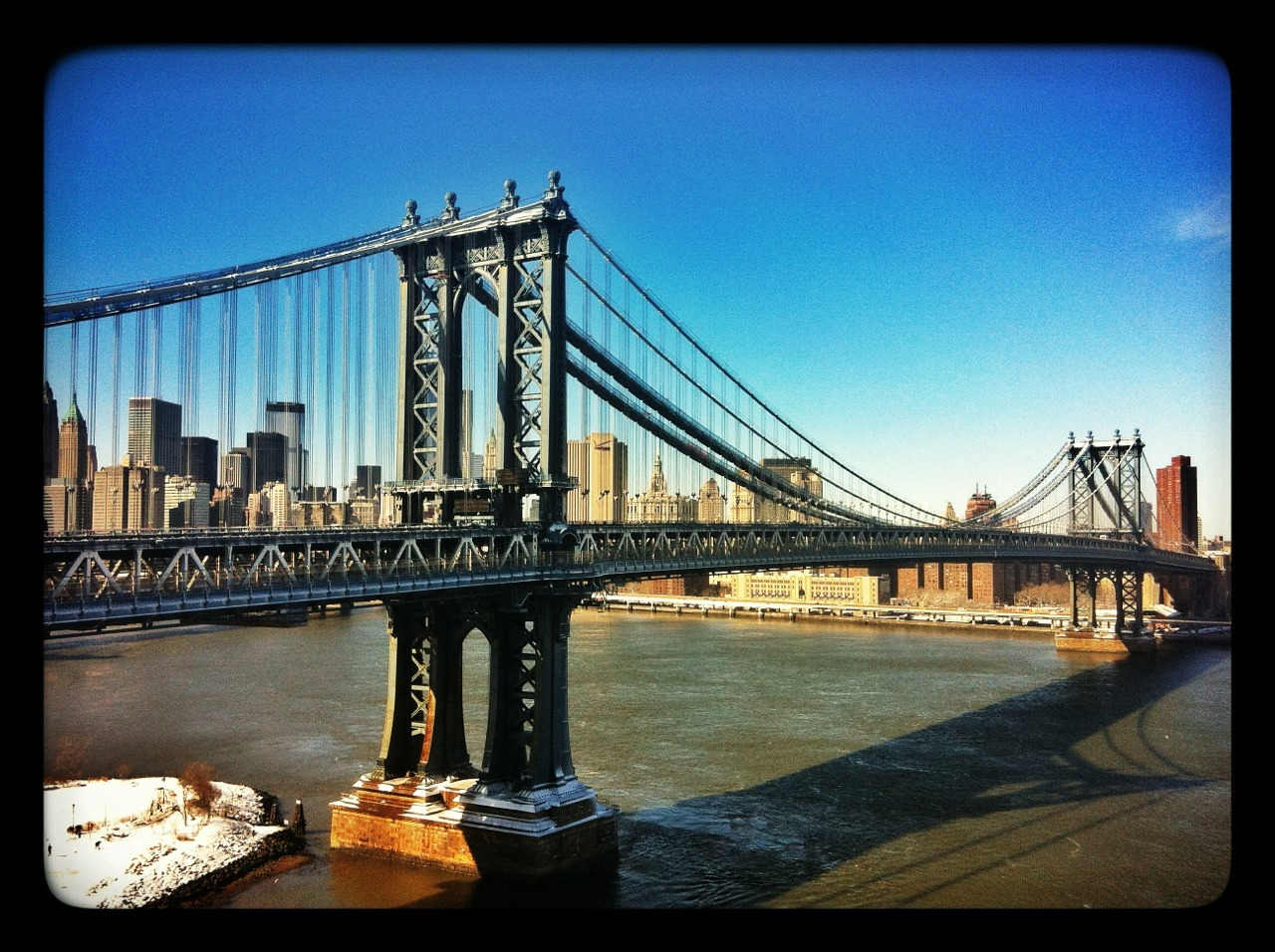 Manhattan Bridge, February 9, 2013  © Dominick Mastrangelo