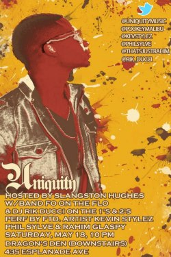 NEW EVENT! This Saturday night! @Uniquity_NOLA is BACK!! After celebrating its fourth anniversary, Uniquity returns with an impressive lineup of R&B talent. Self taught keyboardist/songwriter and featured artist Kevin Stylez, vocalist/street performer/saxophonist Phil Sylve and Raw Revolution member/actor/singer Rahim Glaspy join band Fo On the Flo for performances that were nurtured in the church but currently thriving within the New Orleans music scene. Veteran mixologist DJ Rik Ducci will spin soulful and rhythmic all vinyl sets throughout the night as well. Hosted by Slangston Hughes. CLICK HERE TO RSVP!  #NOLAHollyWoodApproved @NGNola