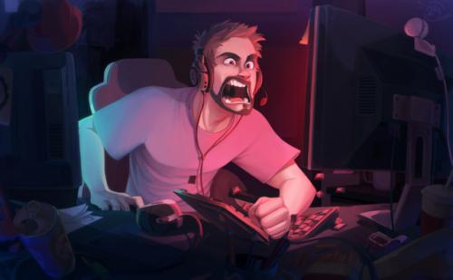 art illustration game over digital 2d emotions cartoon