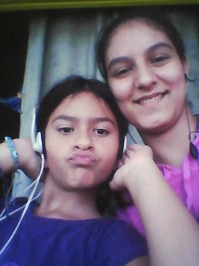 my little sister and me