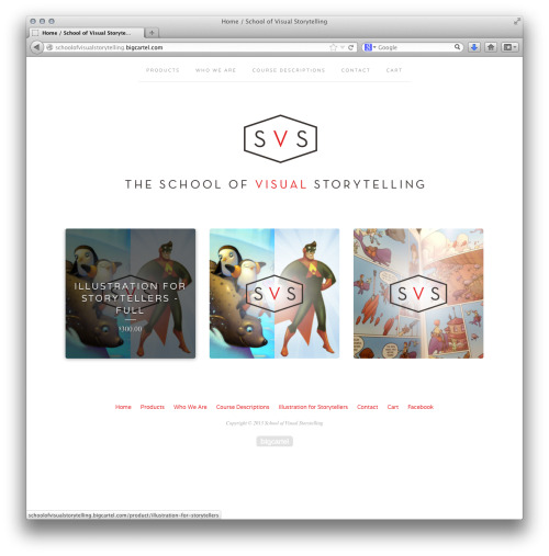 The School of Visual Storytelling! I'm doing an online class this summer with fellow instructor and good friend Will Terry. We created The School of Visual Storytelling to teach, empower, and inspire visual storytellers. We're combining our powers to bring the aspiring professional illustrator current and timeless information about how to give your work and career an edge. Our first class is Illustration for Storytellers with plans to expand to other topics like comics and storyboarding. Facebook page: https://www.facebook.com/schoolofvisualstorytelling/