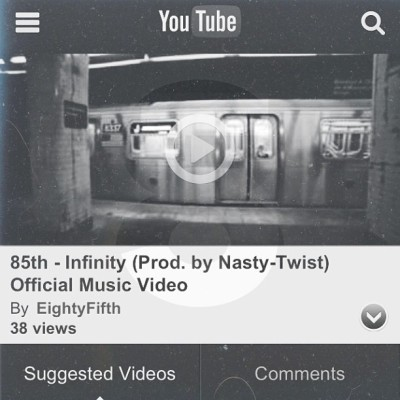 "Infinity (Prod. by Nasty-Twist) Official Music Video  Directed by Brayyan Ali & 21 Quest  Shot and Edited by Brayyan Ali : bcollad@gmail.com  YOUTUBE LINK IN DESCRIPTION!   ""Our first official Single off of Church Boys, Infinity was produced by the infamous duo Nasty-Twist (the dudes that brought you Stuttering). Featuring the gritty, down in the gutter vocals of @Eleagleeye, alongside the Paid-In-Full-esque verse from @elowhim, @21Quest is able to bring out the beauty and Grime of being an Inner city Kid growing up in NY.""  ATrueUnderdogStory.com  #CHURCHBOYS DROPS MAY 27th!!!  #85th #hiphop #eightyfifth #official #single #mixtape #video"