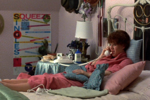 Squeeze poster in Molly Ringwald's room (Sixteen Candles, 1984)