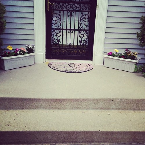 My front stoop is looking flowery fresh!