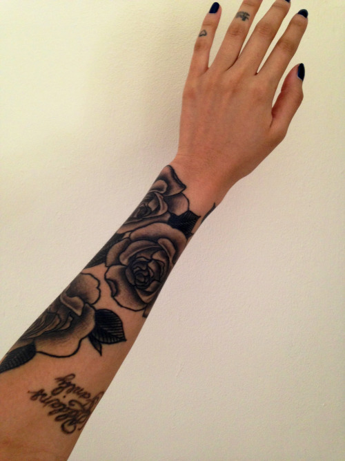 prettysickly:  Start of my sleeve