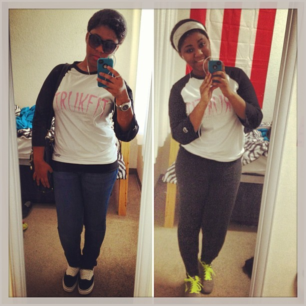 From class to the gym :) #trukfit #baseballtee #puertorican #pride #workout #gym #vans #nikesonmyfeet #bandana #smile #sunglasses #caliweather #csusb #dormlife