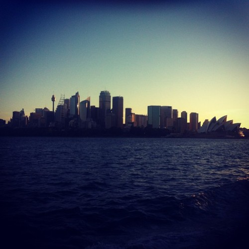 That unmistakable skyline. #latergram #sydney #igsydney #skyline #city #sunset
