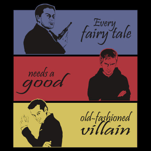 wewerejustfondueing:   Every fairy tale needs a good, old-fashioned villain.  I decided that there are never enough villain t-shirts. So here we are. The villains of SuperWhoLock. Available here:http://www.redbubble.com/people/cyaxares/works/10364035-villains-of-superwholock