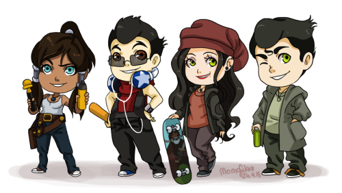 cepelia:  Chibi version of my old 'Legend of Korra: Graffiti' project ( www.momofukuu.deviantart.com )