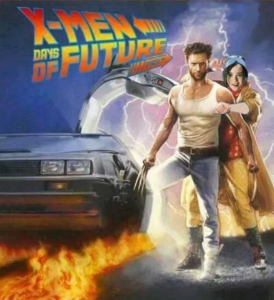 Diversas fuentes confluyen en un acertado y celebrado Mash-Up de las sagas de Back to the future & X-MENDíasdel futuro pasado.Genial!