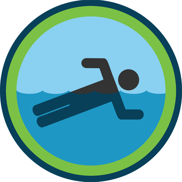 lifescouts:  Lifescouts: Swimming Badge If you have this badge, reblog it and share your story! Look through the notes to read other people's stories. Click here to buy this badge physically (ships worldwide). Lifescouts is a badge-collecting community of people who share real-world experiences online.  I know how to swim! I learned when I was pretty young, around three or four years old. My mom always says that she taught me the basics of swimming one day and the next I thought I was ready to jump into the deep end without floaties, hahaha. I've been on a swim team sense 2010 although I'm not that good. My high school team recently beat Katie Ledecky's high school team at the like regional private school championships. She's so incredibly nice, and I've high fived her twice! so, you know, even though I didn't swim in that meet, I'm part of a team that beat an Olympic gold medalist! Does that count for something?