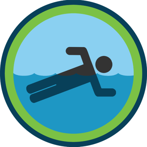 lifescouts:  Lifescouts: Swimming Badge If you have this badge, reblog it and share your story! Look through the notes to read other people's stories. Click here to buy this badge physically (ships worldwide). Lifescouts is a badge-collecting community of people who share real-world experiences online.  I'm a pisces and I love to swim. Last summer I swam nearly every day in Lake Michigan.. <3