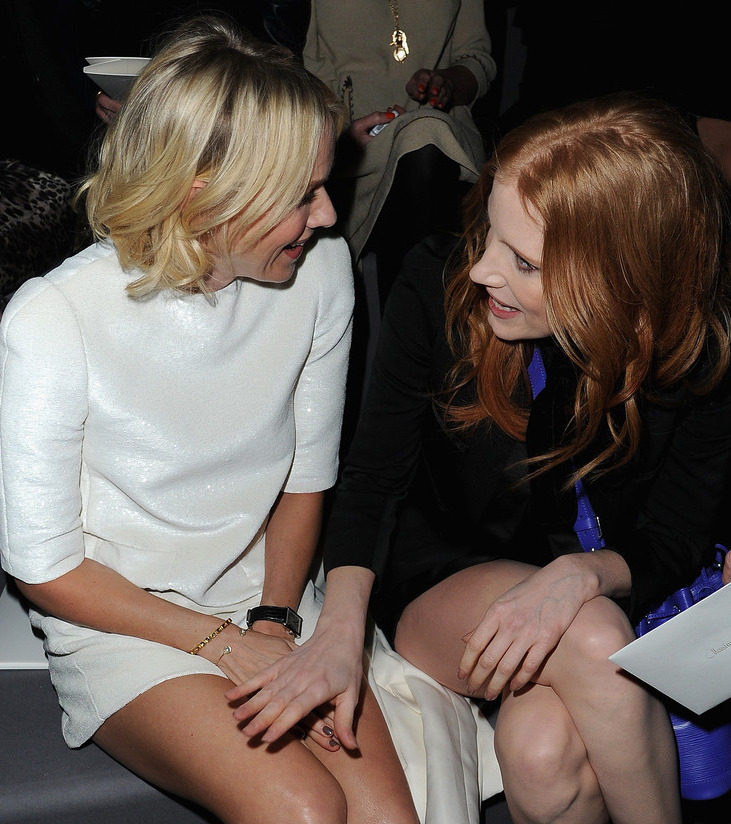 Naomi Watts & Jessica Chastain - Louis Vuitton front row, March 6th 2013 Stunning! Also, KISS HER!