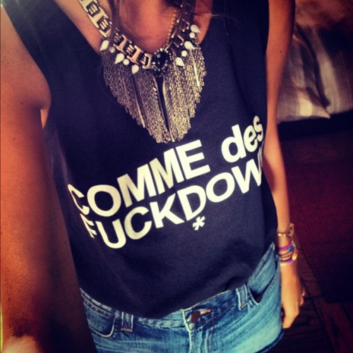 fashionpassionates:  Get the top here: COMME DES FUCKDOWN VEST