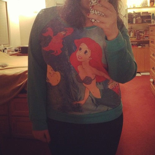 I am an adult. I am an adult. I am an adult. #littlemermaid #sweater #girl #clothing #me #fashion #fun #love #meow