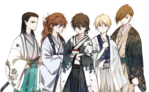 operationmeteor:  by AnZ  YES. But why is Heero in furisode?? Lawls