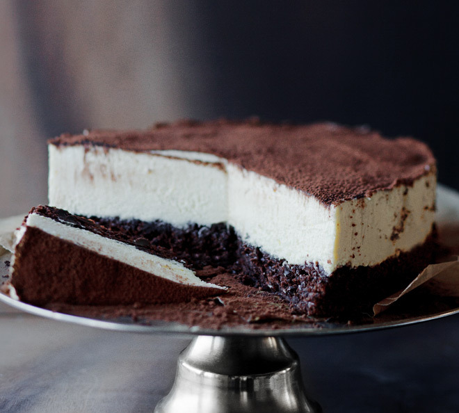 chocolateguru:  Chocolate cake with white mousse