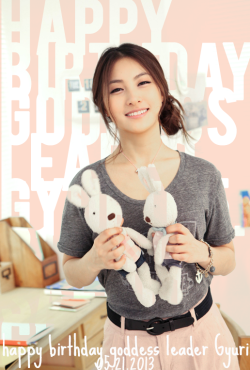 iamkamilia:  Happy Birthday our goddess leader Gyuri <3 May 21, 2013. This goddess never gets old omg Always a Kamilia <3