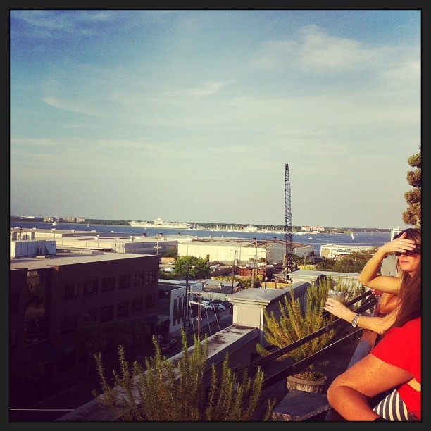 View from the rooftop bar #charleston #sc #vacation