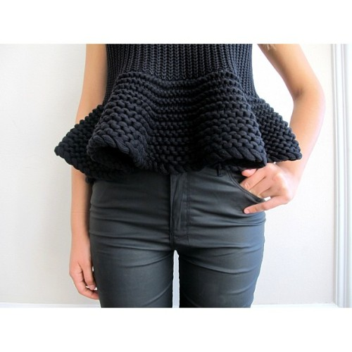 joyhysteric:  @becbridge peplum knit + @ksubi wet-look available now at @joyhystericboutique #blackonblack ✔✔ (at www.thejoystores.com)