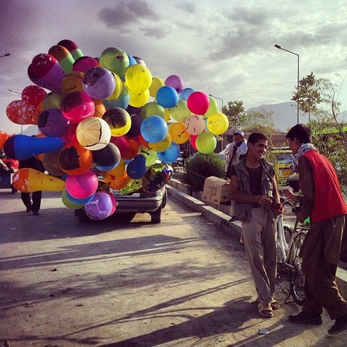 sulymanqardash:  …Balloon Seller Boys… #Kabul #balloon #balloons #indie #afghanistan #colors (at iPhone Camera)