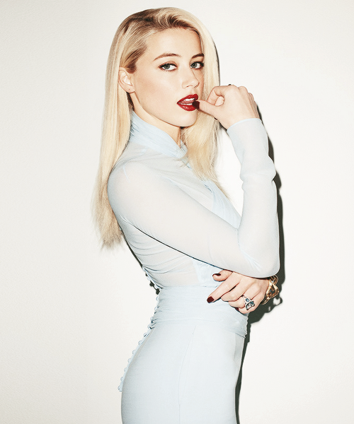 Amber Heard photographed by Terry Richardson for T magazine.