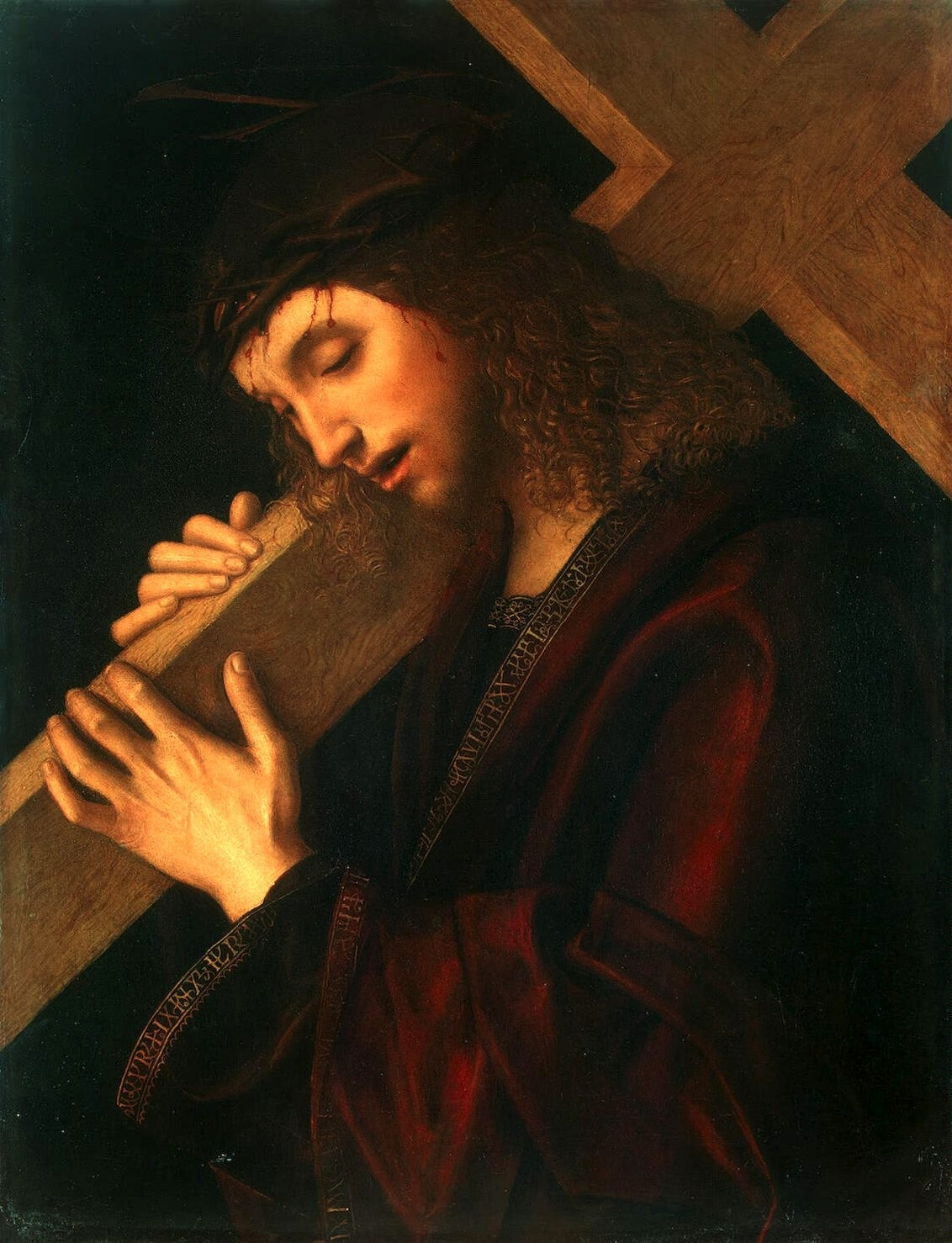 necspenecmetu:  Giovanni Francesco Maineri, Christ Carrying the Cross, c. 1520s