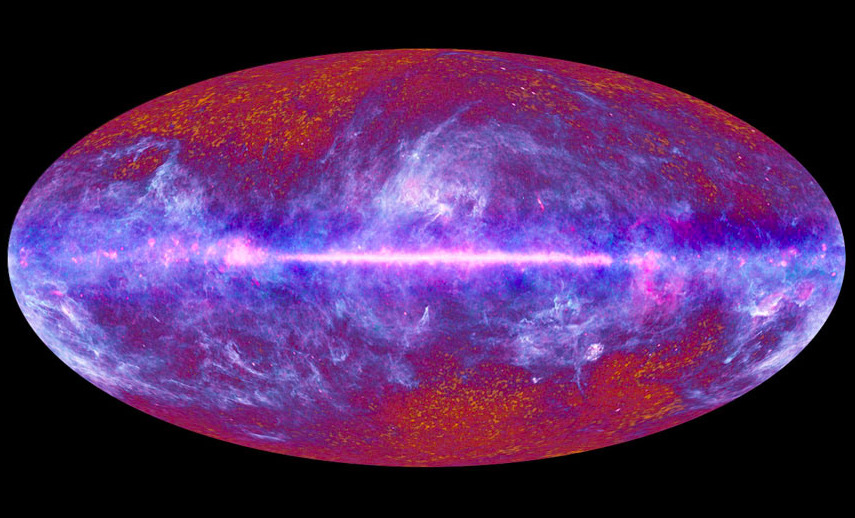 Today from Paris: The Big Bang The 50-million pixel, all-sky image of the oldest light adds an edge of precision to some existing cosmological theories, defining more precisely the composition of the Universe and its age — about 80 million years older than previously thought.