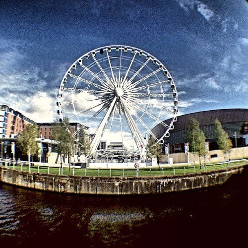 #fisheyelens #wheel #view (presso The Liverpool Big Wheel)