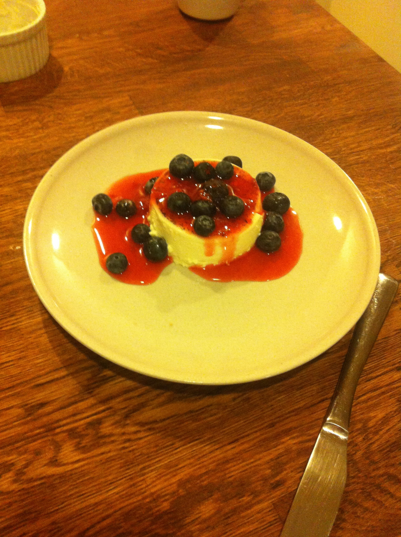 Got to try my cousin's homemade vanilla pannacotta.. restaurant quality!