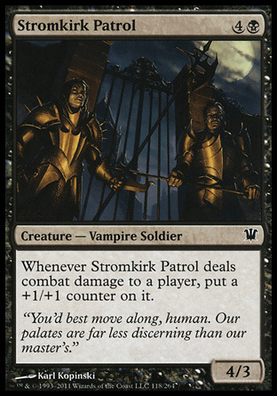 "tasteofmtg:  The Vampires of Innistrad Part 1 Long ago in Innistrad a famine was killing off many humans. There was just not enough food to go around and Edgar Markov decided to find a solution. Edgar was an alchemist, but the situation was so dire he resorted to making a deal with a demon. The demon Shilgengar taught him the secrets of blood magic and Edgar developed a ritual that would change the face of Innistrad. Edgar performed the ritual on himself becoming the first vampire in Innistrad. Afterwards he performed the ritual on his grandson Sorin Markov, the trauma caused Sorin's planeswalker spark to ignite.  Vampires on Innistrad are weak to fire and living wood. Vampires are repelled by silver, because their reflection is quite horrible for them to view. The moon on Innistrad is made of silver and a full moon reflected in water will also repel vampires, they will not travel across bodies of water at night when the moon is full.  Edgar sired many vampires and twelve vampire bloodlines are known to have existed. Of the twelve, three completely died off and five are very small in number. The remaining four make up the majority of the vampires in Innistrad, they are Markov, Falkenrath, Stromkirk and Voldaren.  Markov Progenitor - Edgar Markov, an alchemist looking for a solution to a famine Markov vampires are very widespread in Innistrad. While most vampire families stick to the mountains of Stensia, Markovs can be found anywhere from Kessig to Gavony. The Markov bloodline is possibly the largest of all the vampire bloodlines since they sire so many new vampires. Elder Markov vampires have been known to excel in psychic magic.  Markov Quotes Markov Patrician Vampires of the Markov bloodline pride themselves on their exquisite taste in fashion, art, and ""wine of the vein."" Uncanny Speed ""To survive, we must embrace the savagery we knew in our race's infancy."" —Edgar Markov  Stromkirk   Progenitor - Runo Stromkirk, once a high priest to an ancient god of the sea  Stromkirk vampire do not like the politics of the Stensia vampires and they do not keep any manors or castles there. Stromkirk vampires are almost exclusively found in the coastal region of Nephalia. Stromkirk vampires are excellent at glamer and disguising magic and often interact with the humans of Nephalia. Some Stromkirk vampires are even said to be able to turn to mist.  Runo Stromkirk made himself quite the local patron of arts and shipping and his descendants have followed in his footsteps making Nephalia very prosperous. Runo's motivation for his patronage wasn't altruistic though. He funded any art projects and ship building that meant the local forest would be depleted. Thus there are no trees in Nephalia today, and no living wood stakes for vampires to fear.   Stromkirk vampires treat their prey with care. When a human with good tasting blood is found, they are kidnapped and taken to one of the Stromkirk manors. There they live a life of luxury, albeit in bondage and having their blood sucked often.   Stromkirk Quotes  Stromkirk Captain ""No longer can we allow our human populations to be mindlessly slaughtered by ghouls. Slay all who trespass."" —Runo Stromkirk"