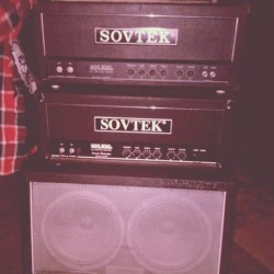 serpentandthesvn:  Both mine and my guitatist's Sovtek MIG100s together. Loading up for rehearsal.  So my classical guitar teacher has had a vintage Sovtek head sitting in a cupboard of his for ages now, I think it's rarely used too… I'm considering asking him if he'd be willing to sell it :O They're just so cool and I would love to have one.