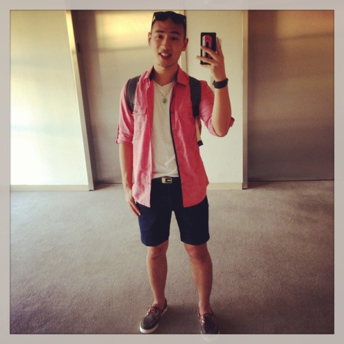 It was a perfect sunny day for shorts heading to class. :D