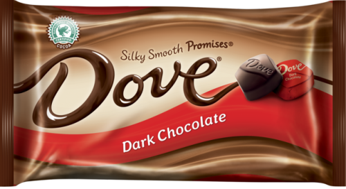 DOVE® PROMISES® Silky Smooth Dark Chocolate #CocoaPro View Nutritional Information Rainforest Alliance Certified™