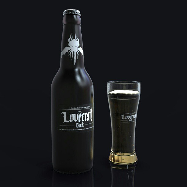 Lovecraft Beer #3D #cg #art #render #3DMax #digital #keyshot #packaging #brand